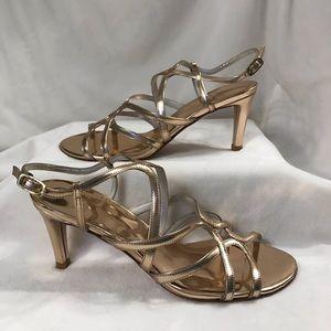 STUART WEITZMAN Size 6 Rose Gold Dress Heels NEW